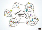 Social media concept. — Stock Vector