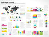 Infographics set. World Map — Stock Vector