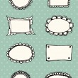 Hand-drawn frames retro background — Stock Vector