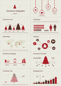 Christmas Infographic set. — Stock Vector