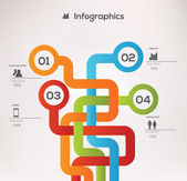 Minimalistic style infographic template. — Vettoriale Stock