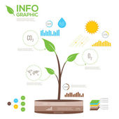 Raccolta di infografiche ecologia — Vettoriale Stock