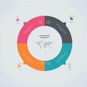 Modern Infographic — Stock Vector