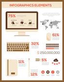Retro Infographic elements. — Vector de stock