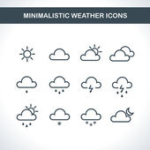 Minimalistic Weather icons. — Stock Vector