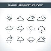 Minimalistic Weather icons. — Stock Vector