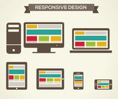 Responsive Web Design — Stock Vector