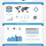 Постер, плакат: SEO infographics set