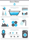 Save Water infographics. — Stock Vector
