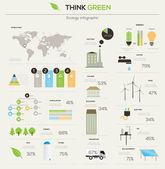 Eco infographic elements. — Stock Vector