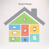 Smart home Infographics Concept. — Stock Vector