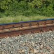 Railway rails — Stock Photo