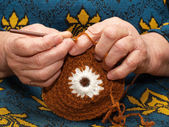 Crocheting — Stock Photo
