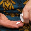 Medicines in hands — Stock Photo