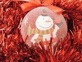 Decoración muñeco de nieve — Foto de Stock
