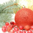 Christmas decoration wallpaper — Stock Photo