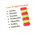 Lose weight schedule — Stock Photo