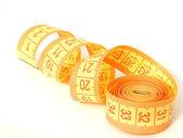 Measuring tape spiral — Stock Photo