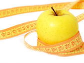 Yellow apple lose weight — Stock Photo