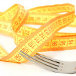 Measuring tape diet — Stock Photo