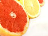 Lemons and grapefruit — Stockfoto
