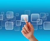 Virtual touchscreen — Fotografia Stock