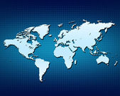 World globe Map — Stock Photo