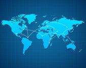 World Map destination — Stock Photo