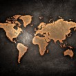 Grunge world map — Stock Photo #18211345