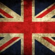 Vintage uk flag - Stock Photo