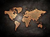 Grunge dünya haritası — Stok fotoğraf
