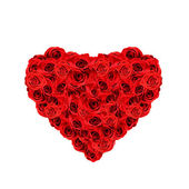 Red roses heart — Stock Photo