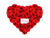 Red roses I love you — Stock Photo