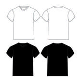 Blank t-shirts template — Stock Vector