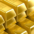 3D gold bars — Stock Photo #18669275