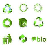 Eco bio Recycle Symbol — Stock Vector