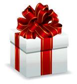 White gift box — Stock Vector