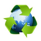 World globe Recycle — Stock Vector