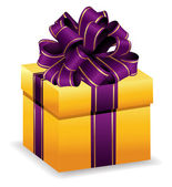 Yellow gift box — Stock Vector