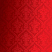 Seamless red damask wallpaper — Stock Photo