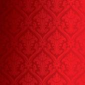 Seamless red damask wallpaper — Stock Photo