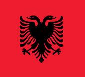 Bandiera Albania — Foto Stock