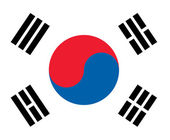 South korea flag — Stock Photo