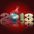 Worldwide party in new year eve - Stock Photo
