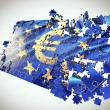 The European Union puzzle with Euro symbol - Stock Photo