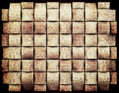 Natural cork grid abstract background — Stockfoto