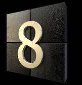 Een abstracte venster ontwerpen nep 8 in het zwart — Stockfoto