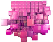 Abstract image of 3d dynamic cubes Isolated on white — Stock Photo