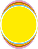Yellow urban oval frame with colorful trim — Stock Vector