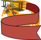 Odrzutowiec w stylu ilustracja kreskówka proste, graficzny, stylizowane — Wektor stockowy